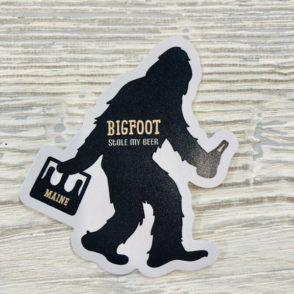 Bumwraps Silhouette Bigfoot Stole Beer Sticker