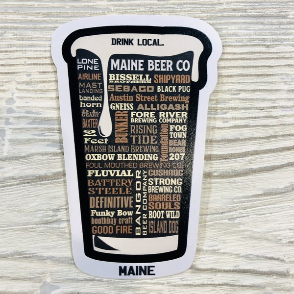 Bumwraps Drink Local Sticker