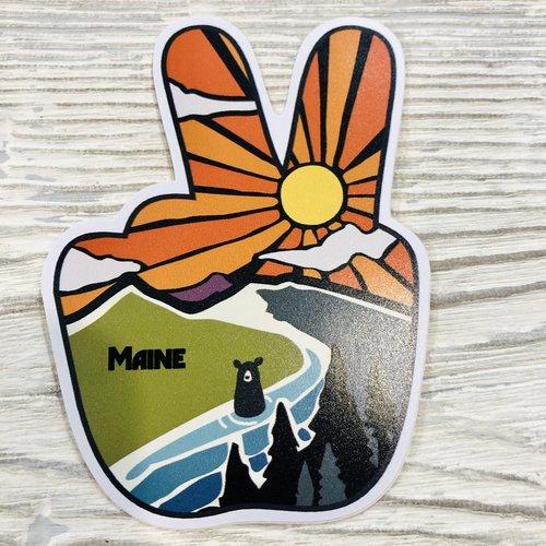Bumwraps Mountain Peace Sticker