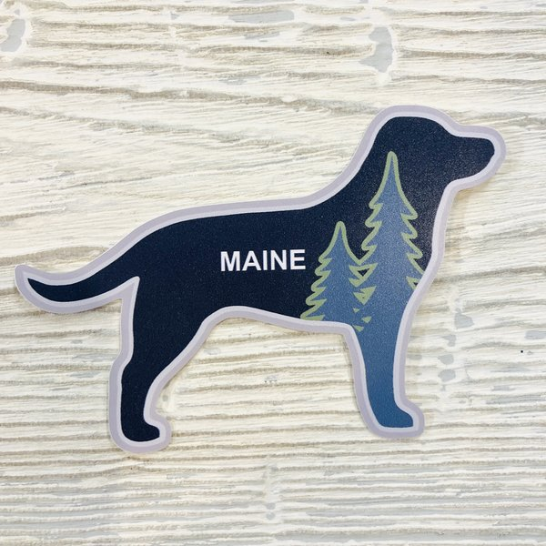 Bumwraps Black Lab Pine Sticker