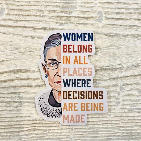 Bumwraps Women Decisions Sticker
