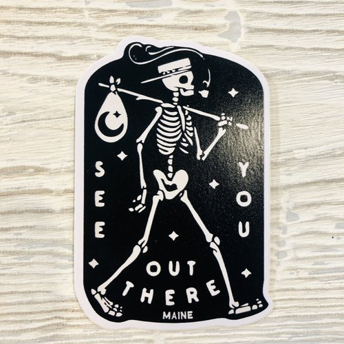 Bumwraps Out There Sticker