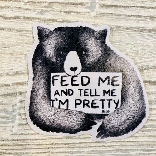 Bumwraps Feed Me Sticker