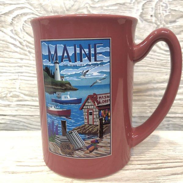 Maine Scene Fishing Village Mug