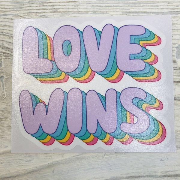 Sticker Cabana Love Wins Sticker
