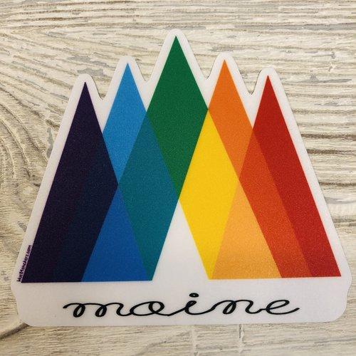 Blue 84 Mini Sticker-Rainbow Mountains