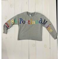 Teemax Rainbow Ladies Crewneck Sweatshirt