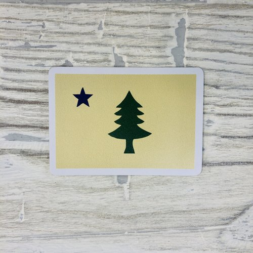 Bumwraps Sticker - Old Maine Flag