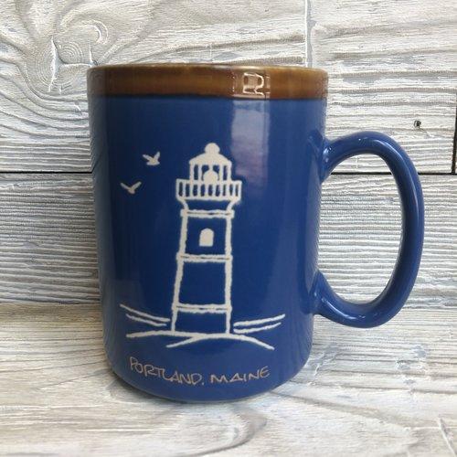 Cape Shore Glazed Lighthouse Mug