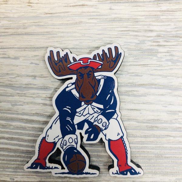 Woods & Sea Magnet-Patriot MM Moose Wood