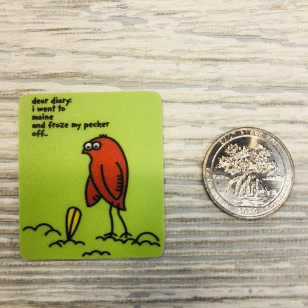 Blue 84 Mini Sticker- Freezin Pecker