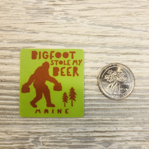 Blue 84 Mini Sticker- Bigfoot Stole Beer