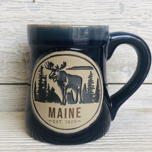 a&F Cobalt Blue Bell Bottom Moose Mug