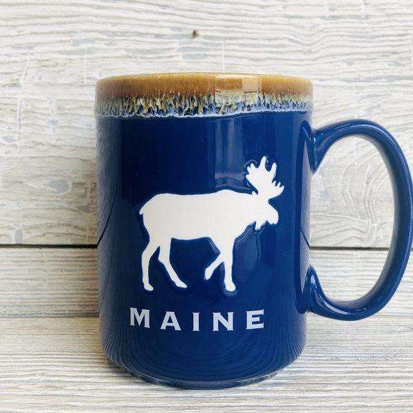 a&F Blue Marshmallow Drip Moose Mug