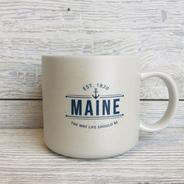 a&F Maine Anchor Glamper Mug- White