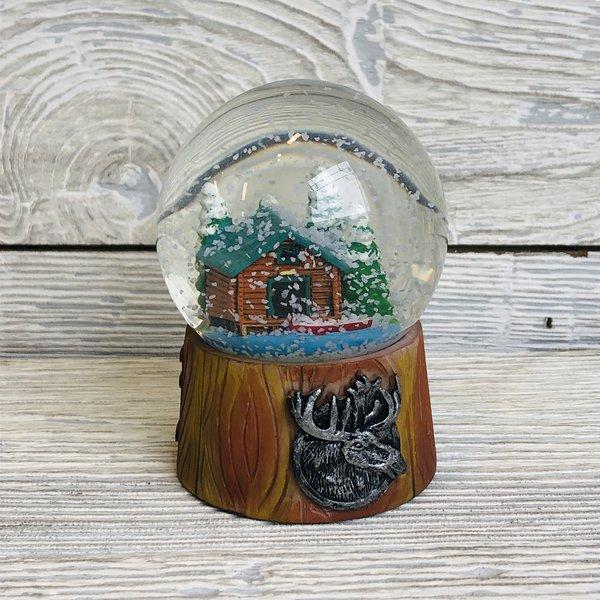 Merimento Moose Shield & Cabin Snowglobe