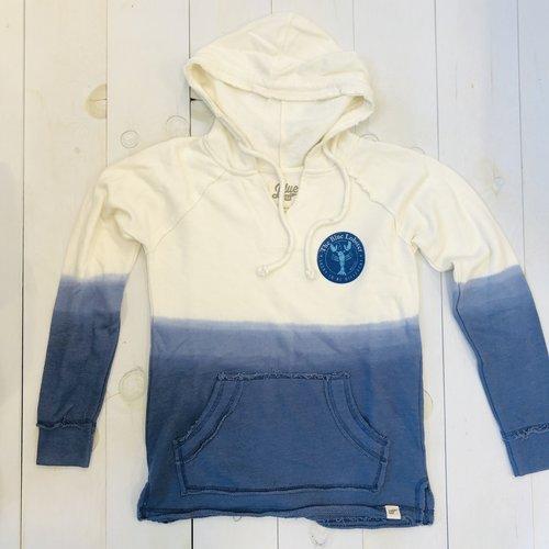 Lake Shirts The Blue Lobster Dip Dye Ladies Hoodie