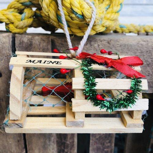 Chesapeake Bay Ornament-Lobster Trap