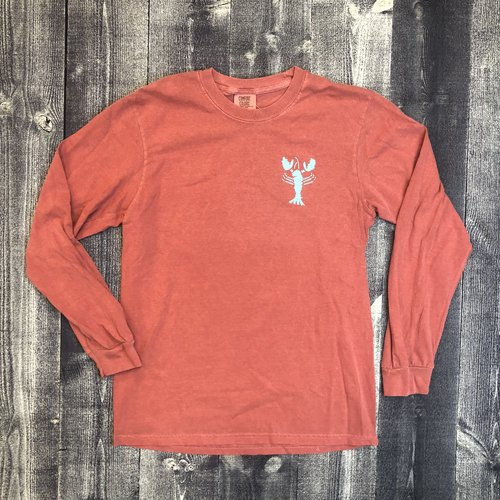Coed The Blue Lobster Longsleeve T-shirt- Brick