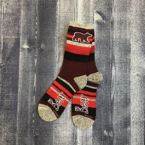 FBF Socks-Bear Mountain Stripe-Lg