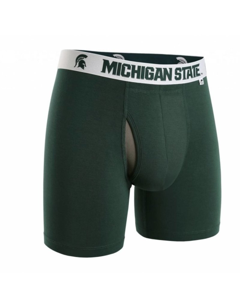 "2UNDR 2UNDR Swing Shift 6"" Boxer Brief Michigan State"