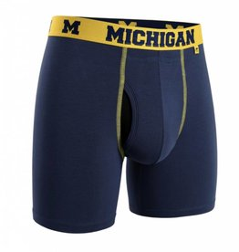 "2UNDR 2UNDR Swing Shift 6"" Boxer Brief Michigan Wolverines"