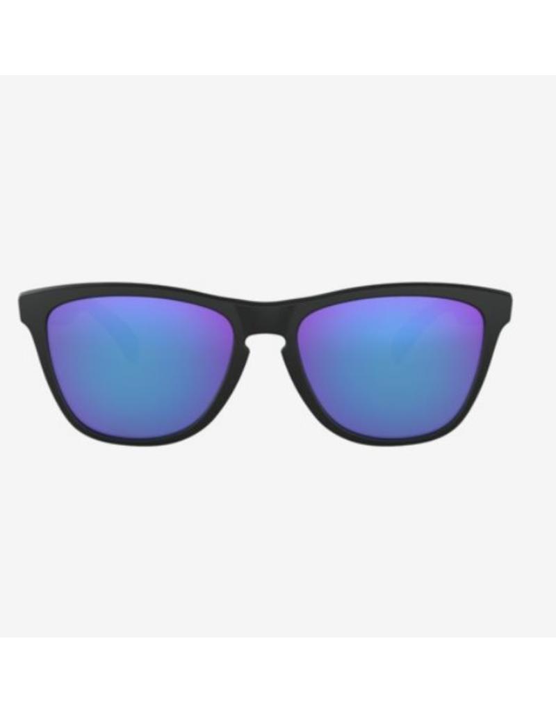 Oakley Oakley Frogskins Matte Black - Violet Iridium Lens
