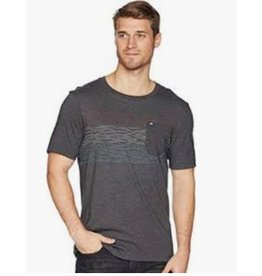 Travis Mathew Travis Mathew Flogging Shirt- Heather Grey Pinstripe