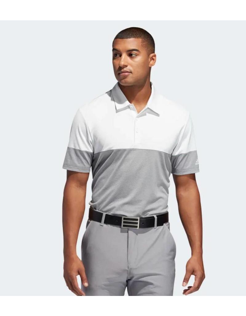 Adidas Adidas Ultimate365 Heathered Blocked Polo Shirt