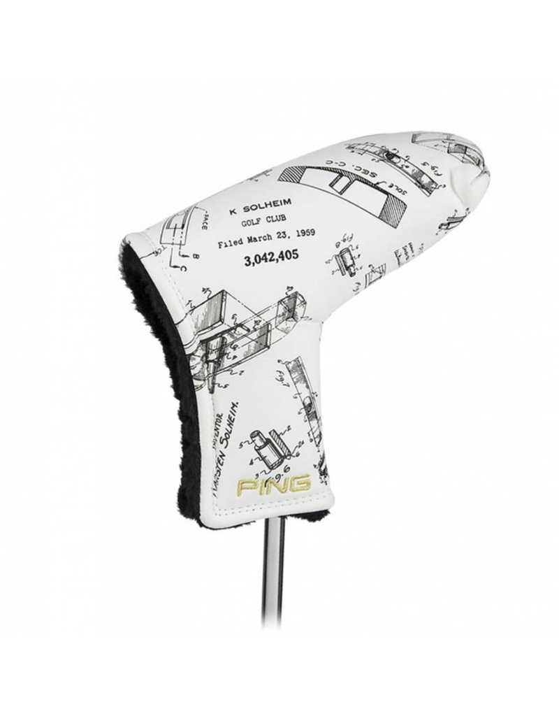 Ping Ping Patent Drawing Putter Cover