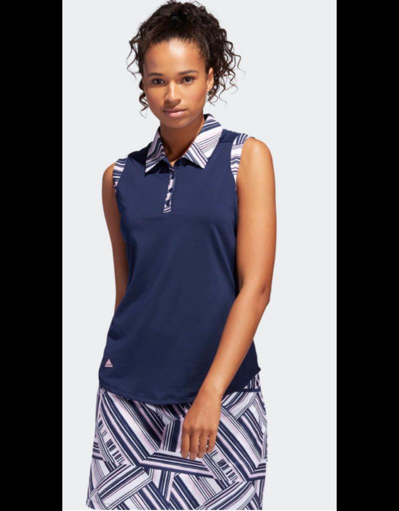 Adidas Adidas Ultimate365 Printed Sleeveless Polo Shirt