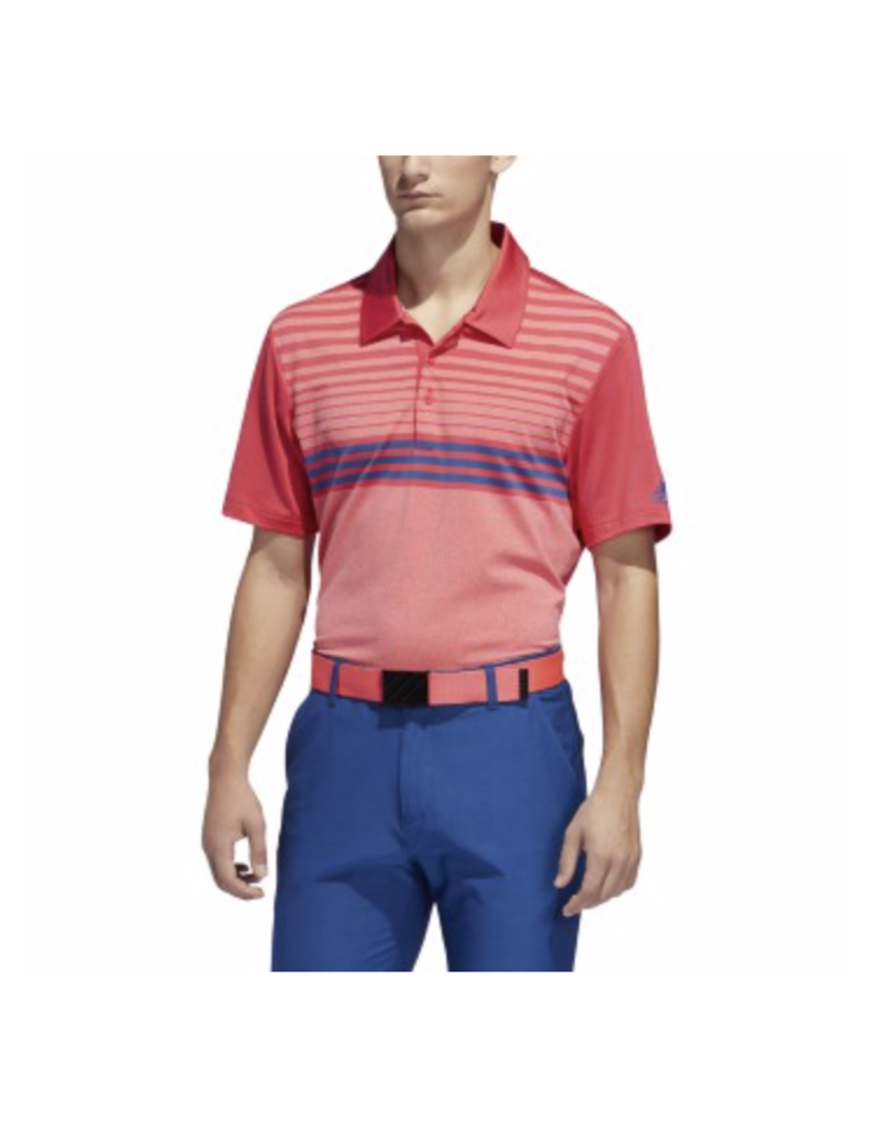 Adidas Adidas Ultimate 3 Stripe Heather Gradient Polo