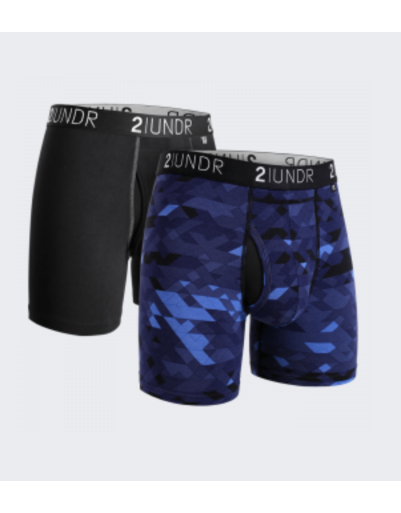 "2UNDR 2UNDR The Swing Shift 6"" Boxer Brief- 2 Pack"