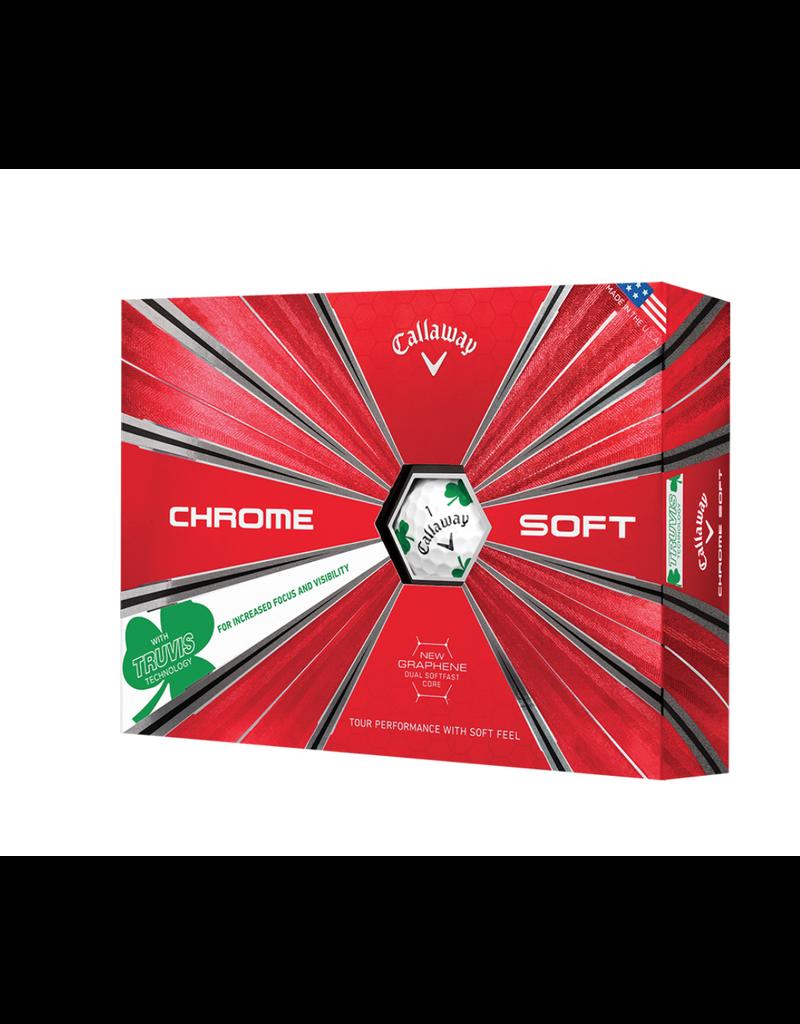 Callaway Callaway 2019 Chrome Soft Truvis Shamrock Golf Balls