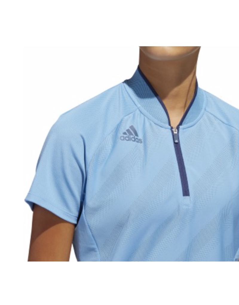 Adidas Adidas Warp Knit Quarter Zip Polo