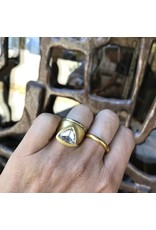 Egyptian Diamond Ring with Rose Cut Cognac Diamond in 22k