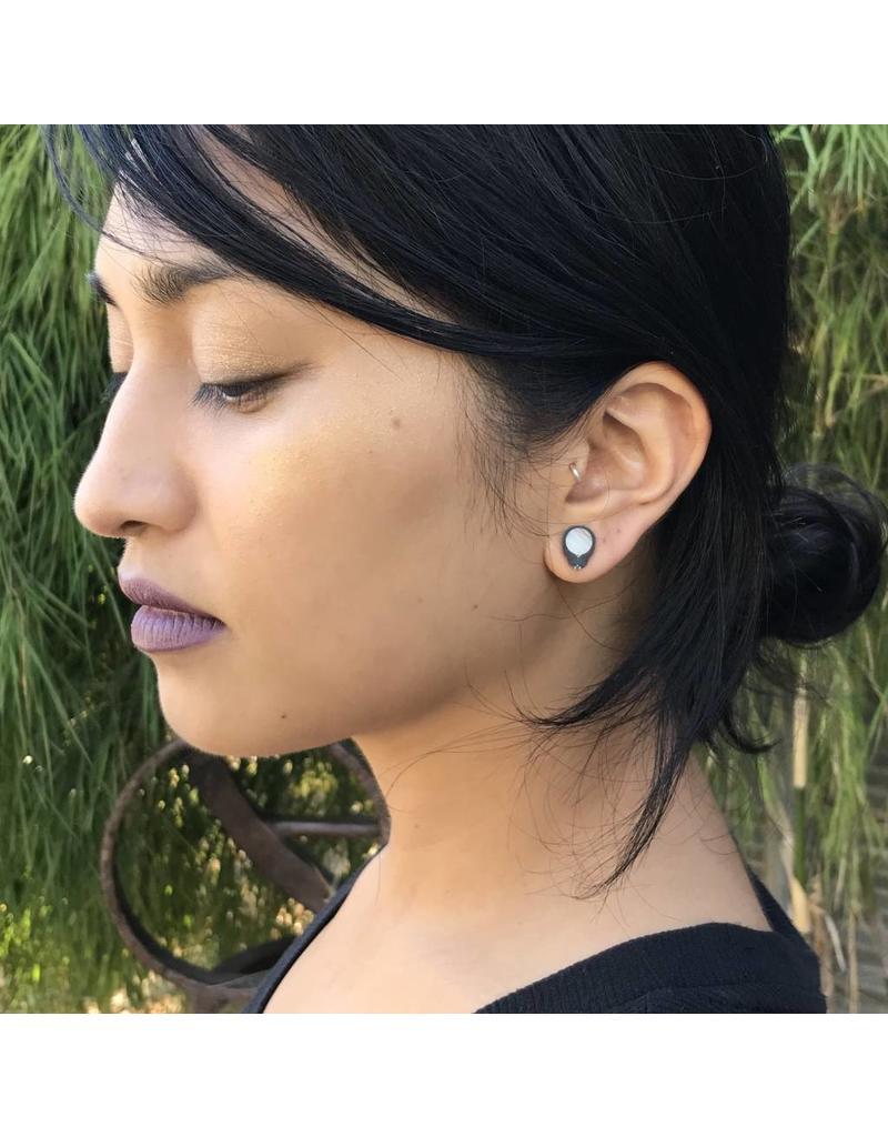 Black Tahitian Pearl Post Earrings
