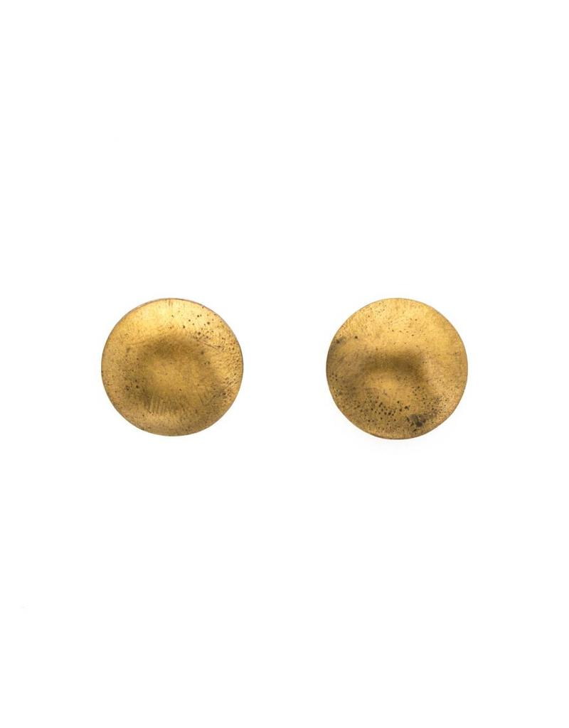 Brass and Silver Post Earrings