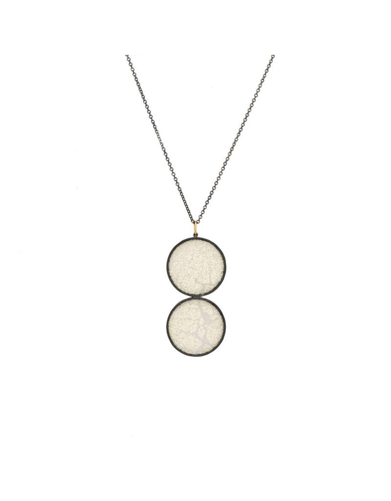 Double Medium White Silk Pendant