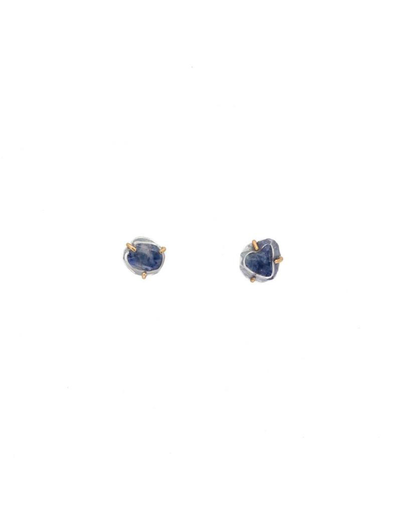 Chattham Sapphire Crystal Post Earrings
