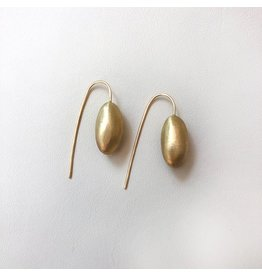 Christina Odegard Matin Ovale Earrings in 18K Gold