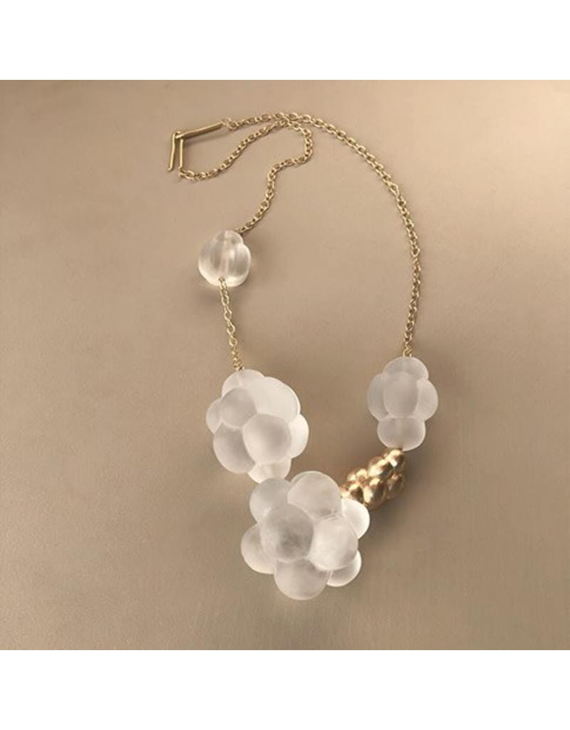 Christina Odegard Matin Quartz Clusters with Courbe and 18k Gold Necklace