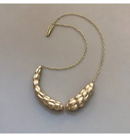 Christina Odegard Matin Accoupler 18k Yellow Gold Cluster Beads and Chain Necklace