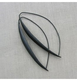 Christina Odegard Matin Ecu Earrings in Oxidized Silver