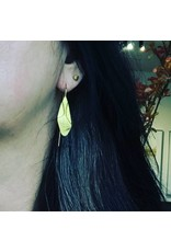 Christina Odegard Matin Ecorce Earrings in 22k Gold
