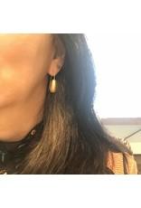 Christina Odegard Matin Ovale Earrings in 18k Yellow Gold