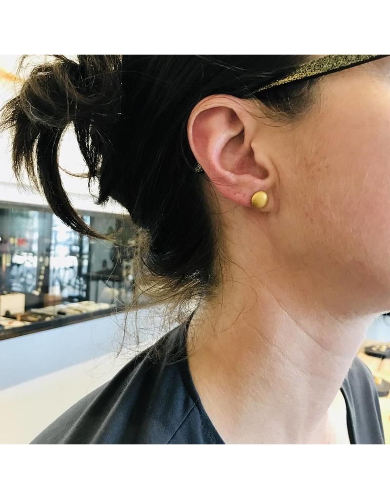 Christina Odegard Matin Clouer Post Earrings in 22K Gold