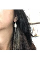 Christina Odegard *Matin Ovale Large Earrings in Silver