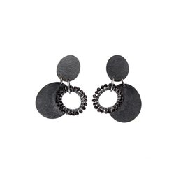Closed Circle Droplet Earrings