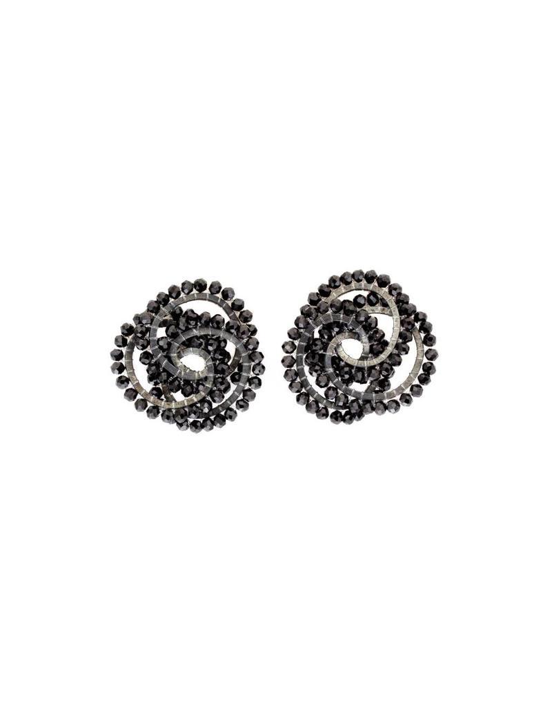 Black Spinel Post Earrings